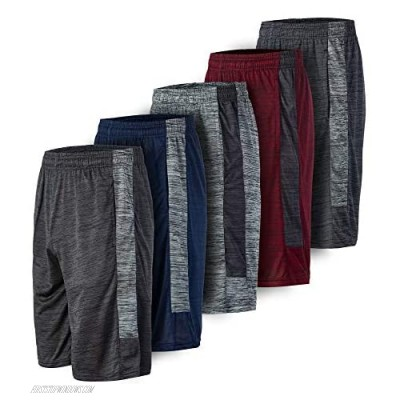 3 or 5 Pack: Men's Active Athletic Quick-Dry Lightweight Workout Gym Sports Basketball Shorts