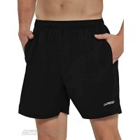 DEMOZU Men's 5 Inch Running Athletic Shorts Quick Dry Gym Workout Track Shorts with Pockets