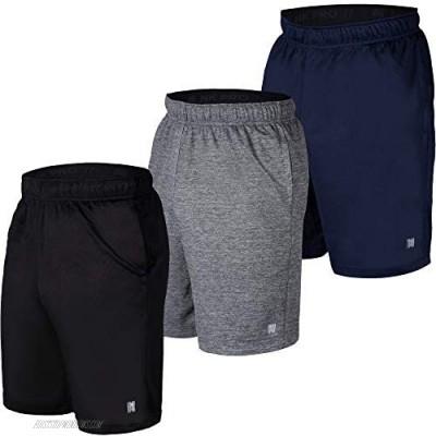 NK Pro 3PK Mens Athletic Shorts Mens Mesh Shorts for Basketball Running Gym