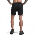 YKB Men's 2-in-1 Workout Running Shorts Lightweight Gym Yoga Training Sport Jogging Short Pants