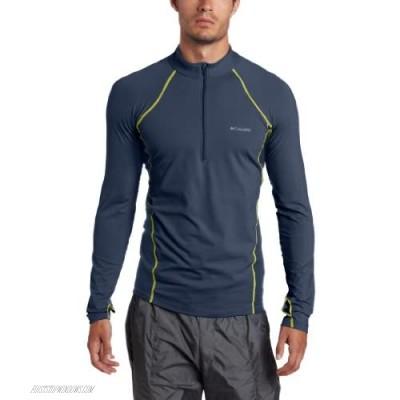 Columbia Men's Baselayer Midweight Long Sleeve 1/2 Zip Shirt Mystery Small