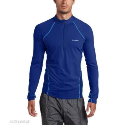 Columbia Men's Baselayer Midweight Long Sleeve 1/2 Zip Shirt Royal Small