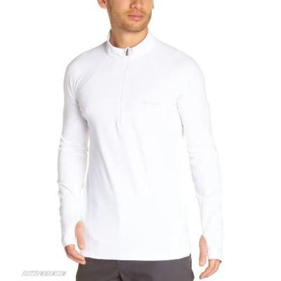 Columbia Men's Baselayer Midweight Long Sleeve 1/2 Zip Shirt White Medium