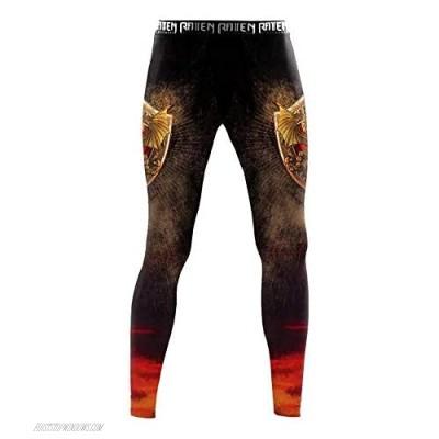 Raven Fightwear Men's The Manticore Leggings Spats MMA BJJ Black