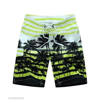 Lavnis Men's Board Shorts Summer Beachwear Quick Dry Swim Trunks Casual Drawstring Waist Shorts