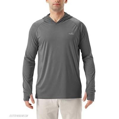 Men's UPF 50+ Long Sleeve Sun Shirts UV Protection Hoodie Rash Guard Hiking Fishing Swim T Shirt