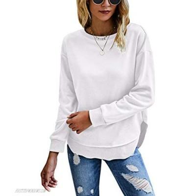 KIRUNDO 2021 Women's Tie Dye Sporty Sweatshirt Crew Neck Long Sleeves Pullover Ribbed Cuffs Hems Sweaters Outwear