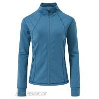yuyangdpb Women's Sports Long Sleeved Lightweight Full Zip-up Tight Workout Running Track Jacket