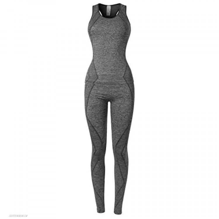 MixMatchy Women's Sports Gym Yoga Workout Activewear Sets Top & Leggings Set