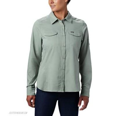 Columbia Women's Silver Ridge Lite Plaid Long Sleeve Wicking Shirt Light Lichen 3X