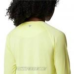 Columbia Women's Tidal Tee II Long Sleeve Sunnyside/Azure Blue Logo X-Large