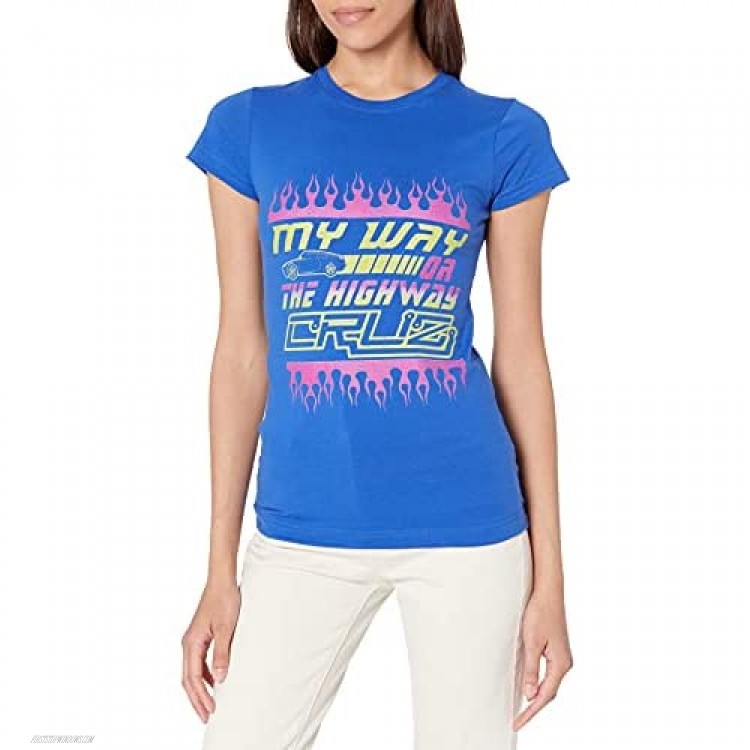 Fifth Sun Women's Cars 3 My Way or The Highway Graphic Crew Tee