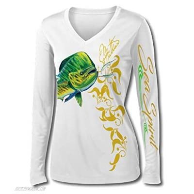Jason Mathias Sea Spirit Mahi Womens LS High Performance Shirt