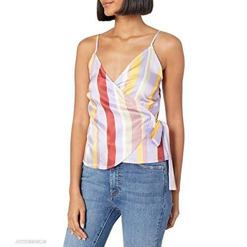 J.O.A. Women's Sleeveless Side Tie Wrap Top