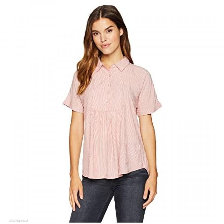NINE WEST Women's Jonna High Low Hem Pullover Shirt