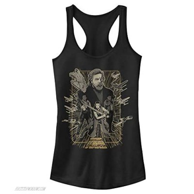 STAR WARS womens Good Side Gold Poster Top