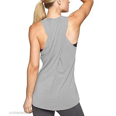 Women's Racerback Sports Yoga Top Stretch Yoga Shirt Running Sports Fitness Vest,Casual Sports T-Shirt