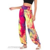 GUOLEZEEV Tie Dye Sweatpants for Women Lounge Pants High Waist Joggers Pants