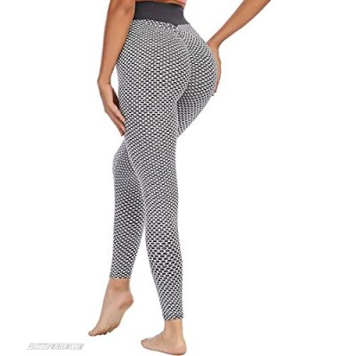 Leggings for Women Stretchy Workout Leggings High Waist Yoga Pants Butt Lift Tights Tummy Control Booty Tights