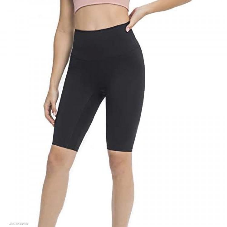 Nanomi Beauty Women's High Waist Yoga Pants Naked Feeling Workout Athletic Biker Shorts