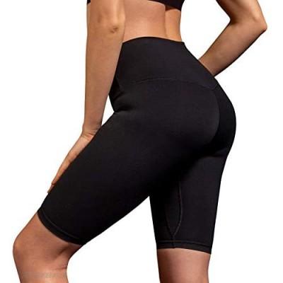 OGLWR Women's Sports Compression Shorts High Waisted Biker Workout Sport Yoga Shorts with Hidden Pocket