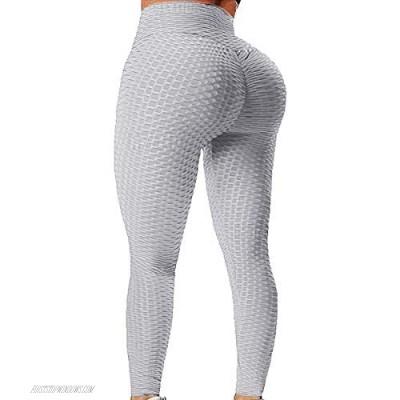 TIK Tok Leggings for Women Butt Lift Long Leggings Scrunch Butt Leggings Short Gray