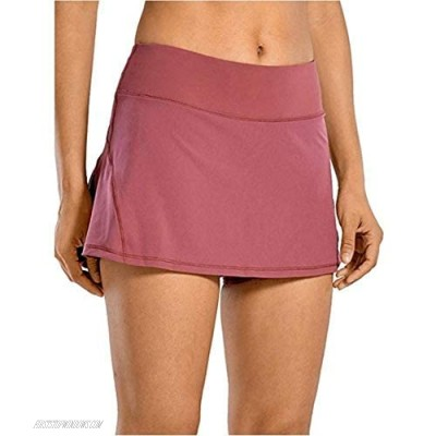 Wollet Women's Workout Active Skorts Sports Tennis Golf Skirt Built-in Shorts Casual Workout Clothes Athletic Yoga Apparel