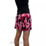 Smash Dandy Camouflage Pink Camo Slim Golf Skort with Compression Shorts with Pockets