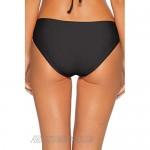 Becca by Rebecca Virtue Women's American Ribbed Tab Side Hipster Bikini Bottom