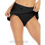 Halcurt Women's Ruched Swim Skirt Tankini Swim Bottom