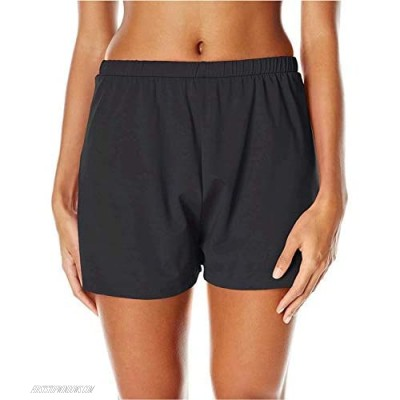 Maxine Of Hollywood Women's 2'' Loose Fit Mid Rise Swim Shorts