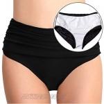 T1FE 1SFE Women High Waisted Bikini Bottoms Tummy Control Swimsuit Bottoms Ruched Full Coverage Swim Bottom High Rise
