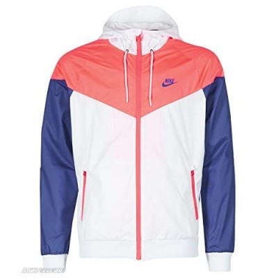 Nike Mens M NSW WR JKT 727324-104_XL - White/HOT Punch/Concord/Concord