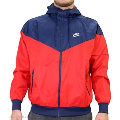 Nike Men's NSW Windrunner Jacket Red - Red (University Red/Midnight Navy/White) size: l Large