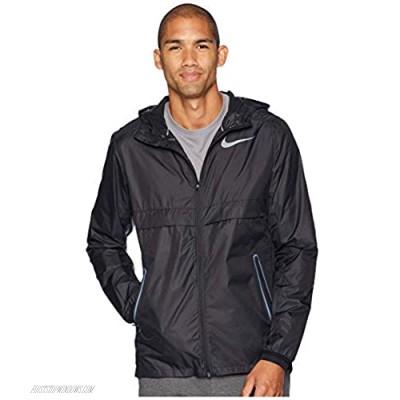 Nike Mens Shield Lightweight Running Jacket Black/Reflective Silver CJ5469-010