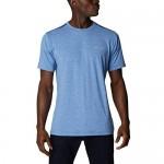 Columbia Men's Tech Trail Crew Neck Shirt Wicking Sun Protection Bright Indigo 2X Big