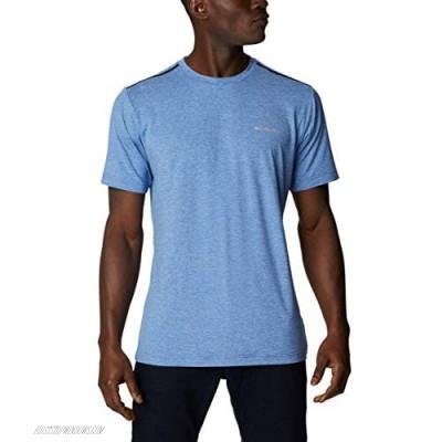 Columbia Men's Tech Trail Crew Neck Shirt Wicking Sun Protection Bright Indigo 6X Big