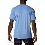 Columbia Men's Tech Trail Crew Neck Shirt Wicking Sun Protection Bright Indigo Large Tall