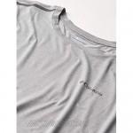 Columbia Men's Tech Trail Crew Neck Shirt Wicking Sun Protection Cool Grey 2X Tall