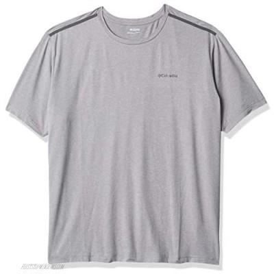 Columbia Men's Tech Trail Crew Neck Shirt Wicking Sun Protection Cool Grey 3X Big