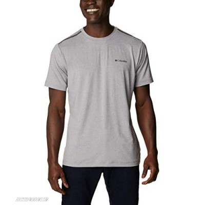 Columbia Men's Tech Trail Crew Neck Shirt Wicking Sun Protection Cool Grey Large Tall